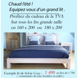 promotion lits grande taille