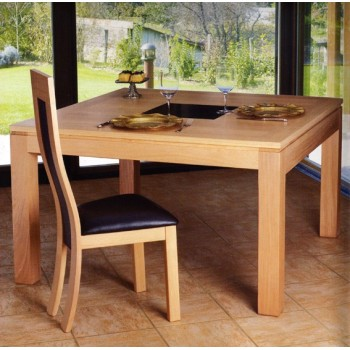 Table contemporaine carrée Arlequin