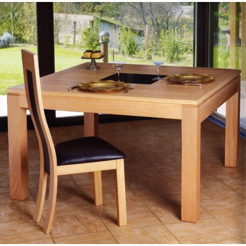 Table contemporaine carree for Table de sejour carree