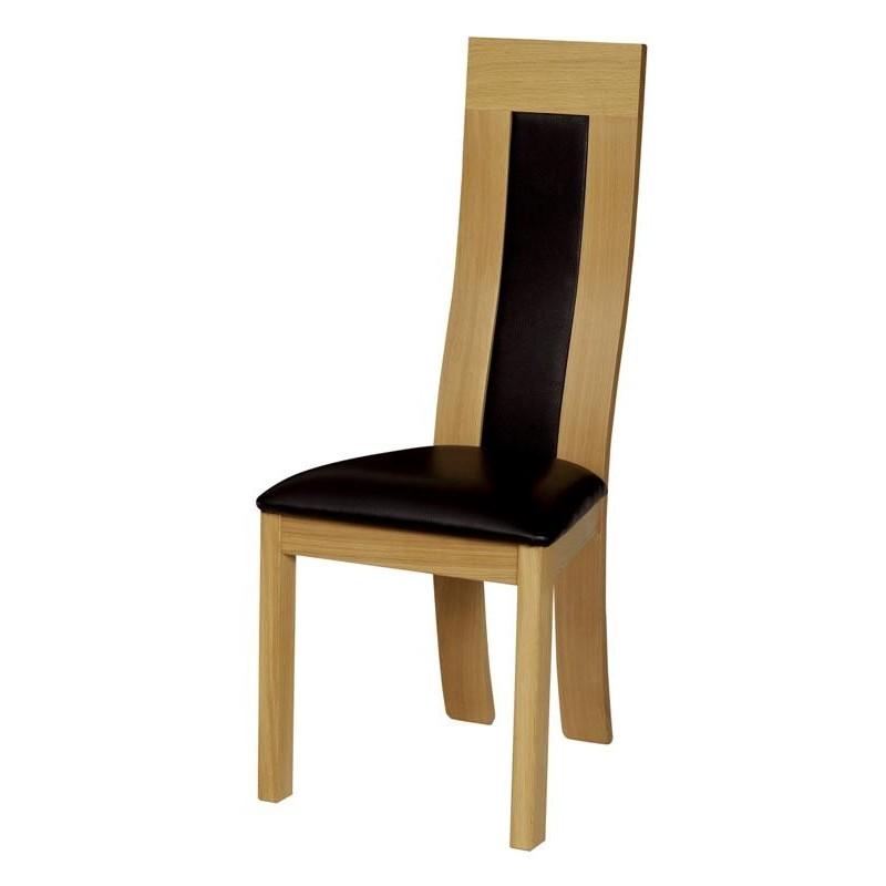 chaise arlequin dossier tissu meubles de normandie. Black Bedroom Furniture Sets. Home Design Ideas