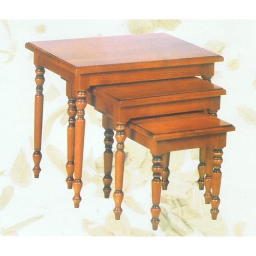 Tables gigognes louis philippe meubles de normandie for Salon louis philippe