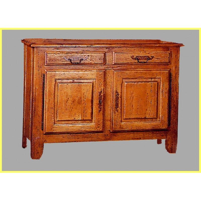 bahut 2 portes vieux bois fran ois en ch ne meubles de normandie. Black Bedroom Furniture Sets. Home Design Ideas