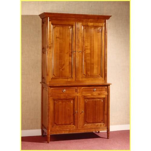 buffet 2 corps louis xvi en merisier meubles de normandie. Black Bedroom Furniture Sets. Home Design Ideas