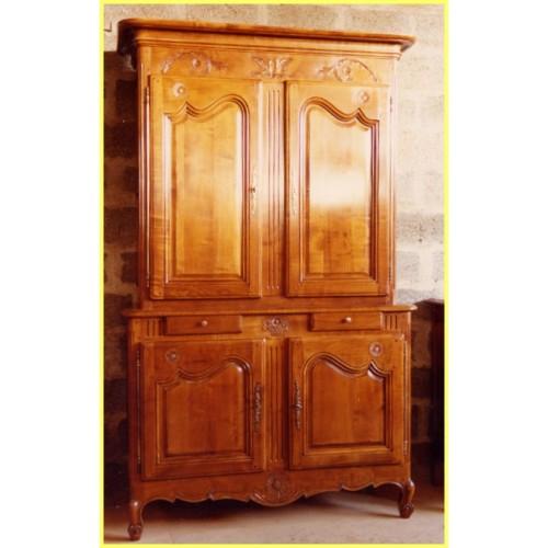 buffet 2 corps marguerite en merisier meubles de normandie. Black Bedroom Furniture Sets. Home Design Ideas