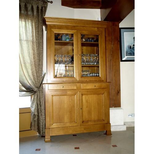 buffet 2 corps restauration en ch ne n 2 meubles de. Black Bedroom Furniture Sets. Home Design Ideas