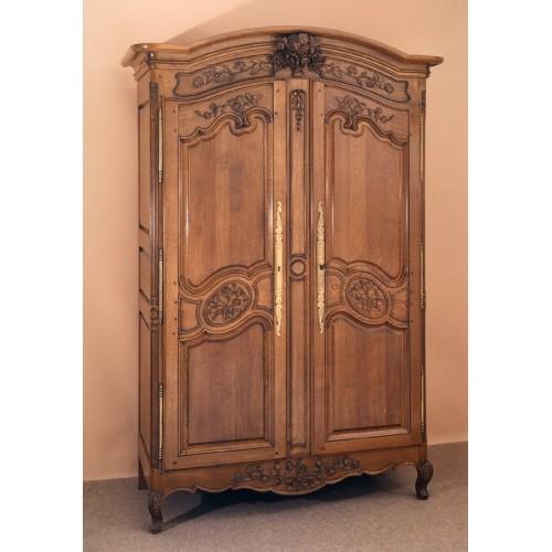 Armoire normande rose en ch ne meubles de normandie for Porte normande