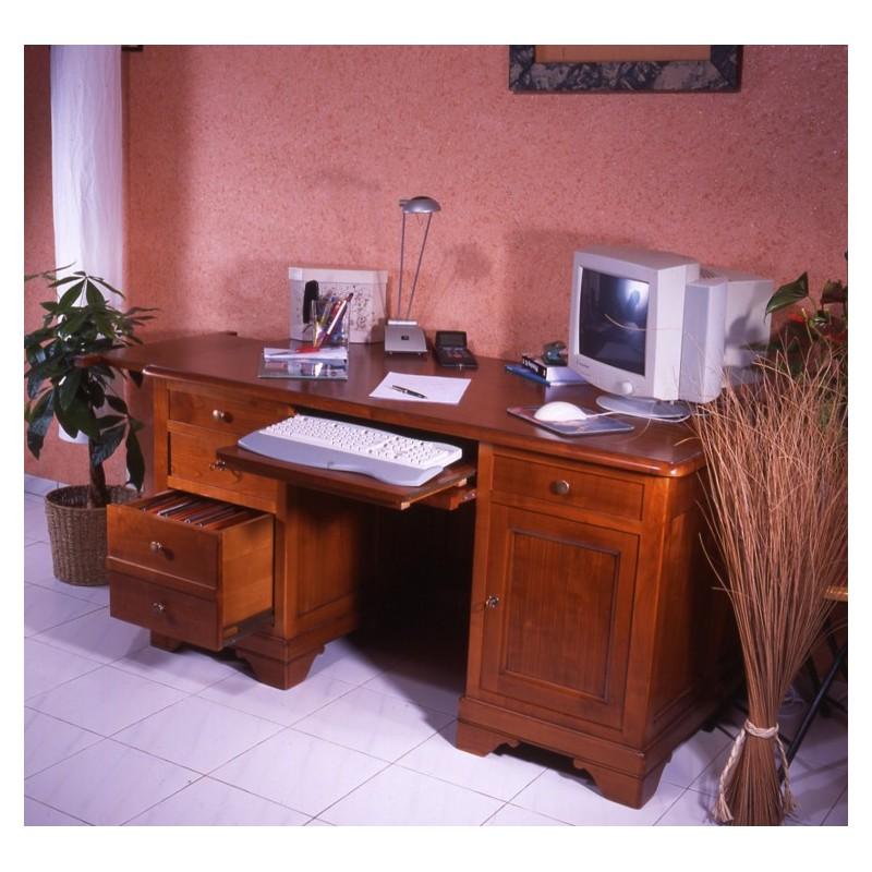 grand bureau merisier louis philippe meubles de normandie. Black Bedroom Furniture Sets. Home Design Ideas