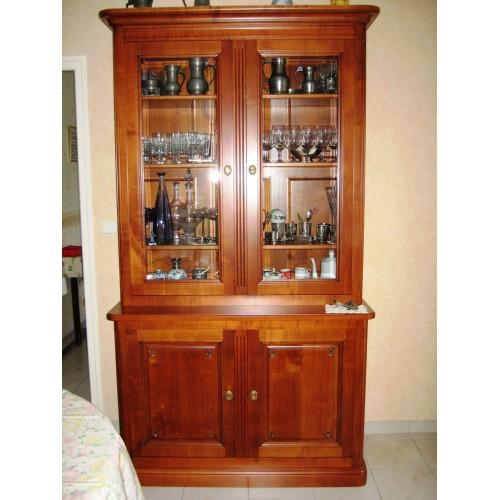meuble tv bibliotheque merisier. Black Bedroom Furniture Sets. Home Design Ideas