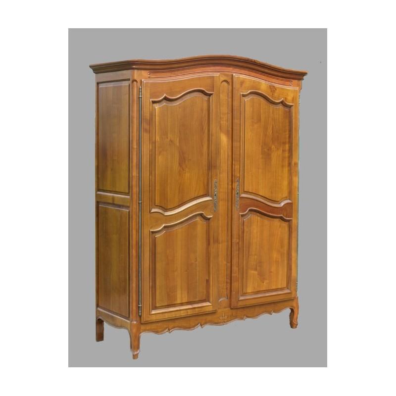 armoire louis xv prairie en merisier meubles de normandie. Black Bedroom Furniture Sets. Home Design Ideas