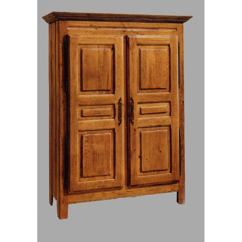 armoire 2 portes vieux bois fran ois en ch ne meubles de normandie. Black Bedroom Furniture Sets. Home Design Ideas