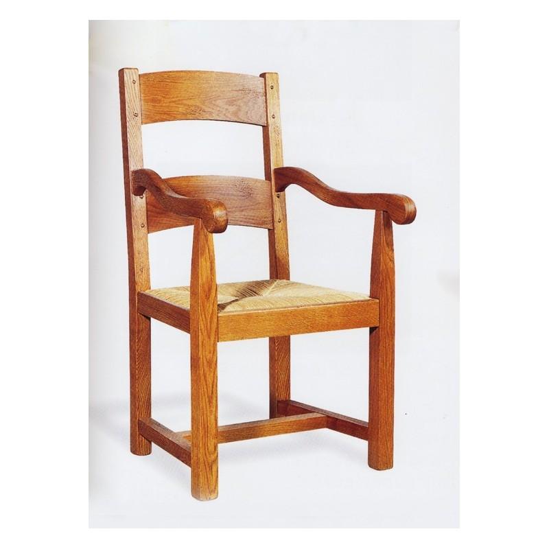 Fauteuil campagnard n 4 sculpt meubles de normandie for Meuble fauteuil