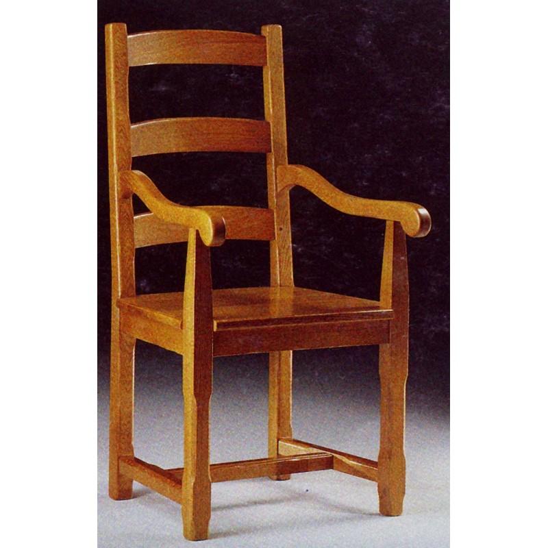 fauteuil campagnard en ch ne n 5 meubles de normandie. Black Bedroom Furniture Sets. Home Design Ideas