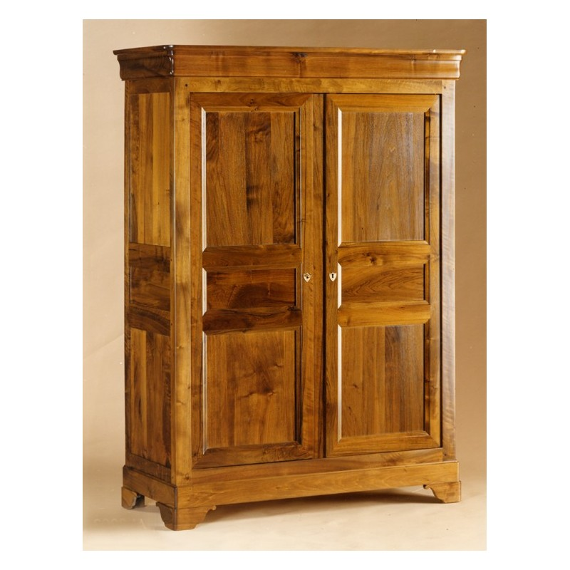 armoire 2 portes fran oise en noyer meubles de normandie. Black Bedroom Furniture Sets. Home Design Ideas