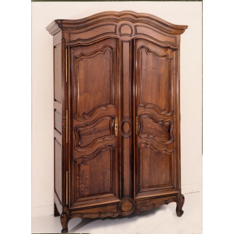 armoire lyonnaise marine en noyer meubles de normandie. Black Bedroom Furniture Sets. Home Design Ideas