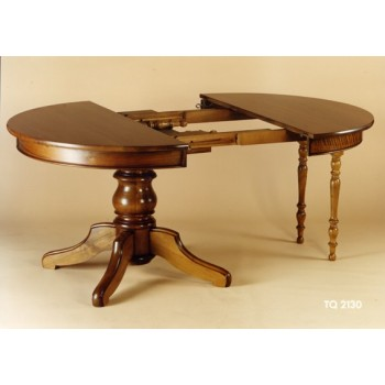Meubles de normandie - Table ronde rallonge pied central ...