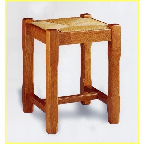 tabouret de table campagnard avec paille meubles de normandie. Black Bedroom Furniture Sets. Home Design Ideas