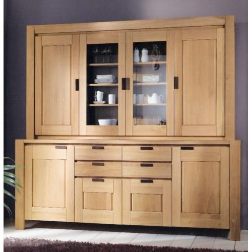 vaisselier karla 2 portes vitr es 2 portes bois. Black Bedroom Furniture Sets. Home Design Ideas