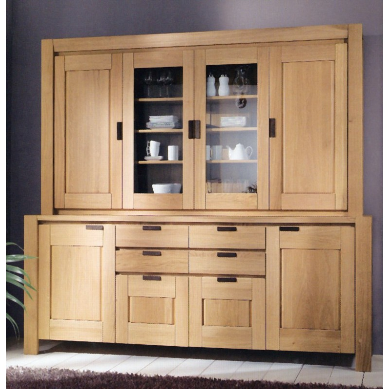 vaisselier karla 2 portes vitr es 2 portes bois meubles de normandie. Black Bedroom Furniture Sets. Home Design Ideas
