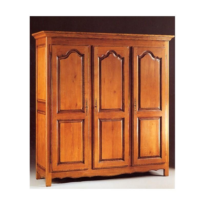 armoire campagnarde 3 portes d 39 annie en ch ne meubles de normandie. Black Bedroom Furniture Sets. Home Design Ideas