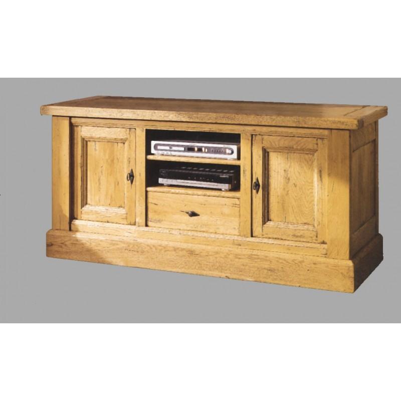 Meuble t l vision meuble t l d angle en console bois for Meuble tele chene