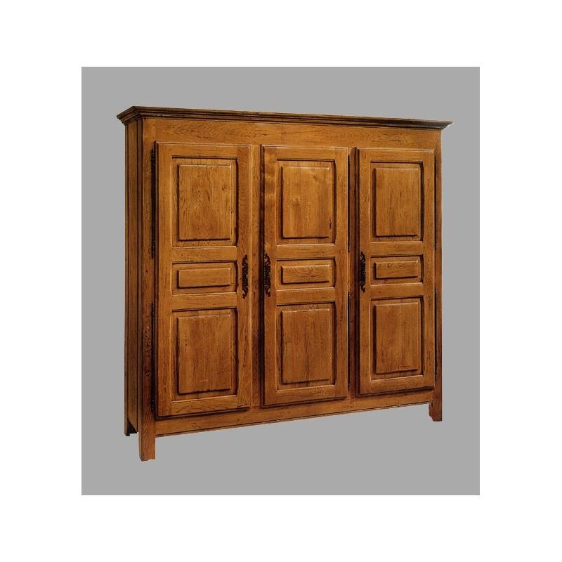 armoire 3 portes vieux bois fran ois en ch ne meubles de normandie. Black Bedroom Furniture Sets. Home Design Ideas