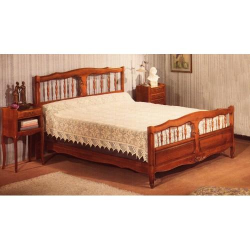 lit 136 merisier 1 2 balustres meubles de normandie. Black Bedroom Furniture Sets. Home Design Ideas