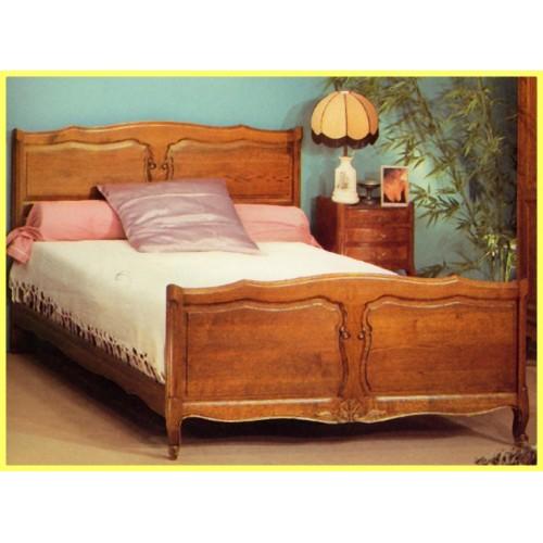 lit louis xv 136 ch ne panneaux meubles de normandie. Black Bedroom Furniture Sets. Home Design Ideas