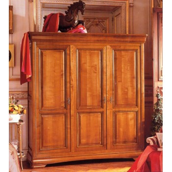 Pin armoire 3 portes liam on pinterest for Armoire 2 portes penderie