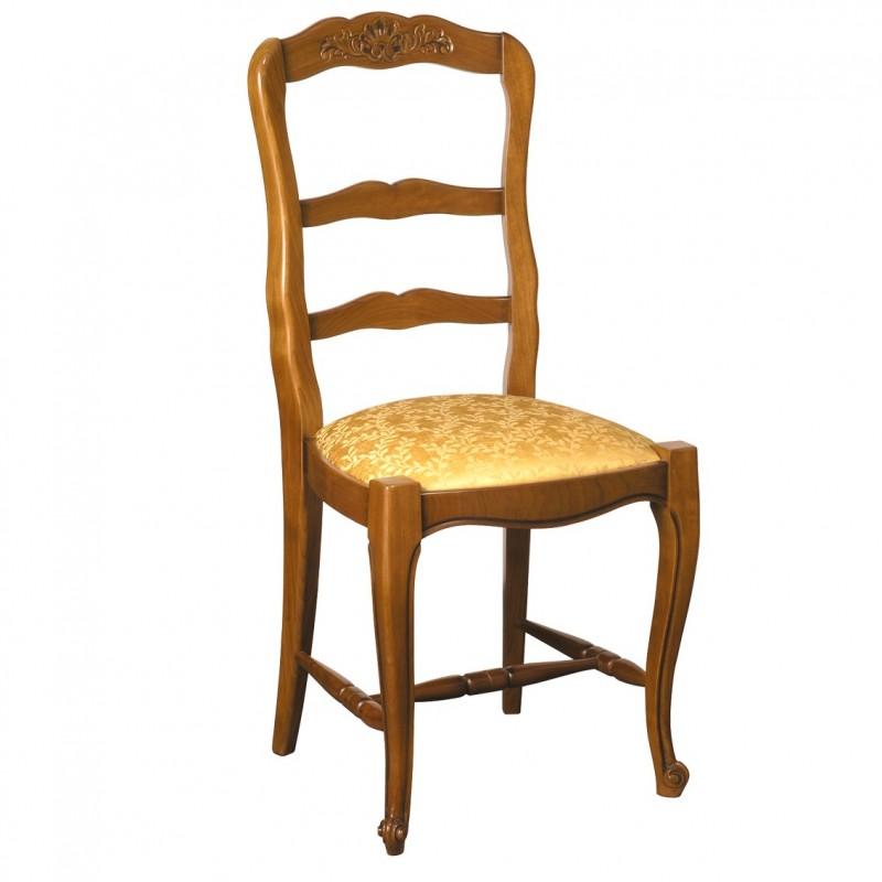Chaise r gence n 2 en h tre et tissu meubles de normandie for Chaise en hetre