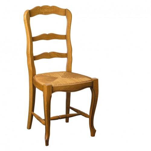 chaise louis xv n 1 en ch ne et paille meubles de normandie. Black Bedroom Furniture Sets. Home Design Ideas