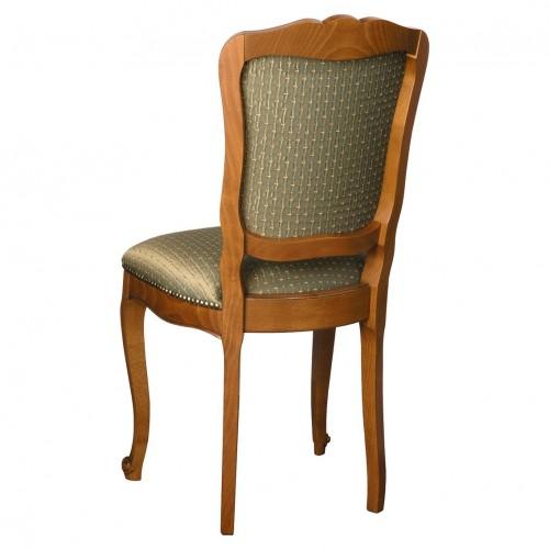 Chaise r gence n 4 en h tre et tissu meubles de normandie for Chaise en hetre