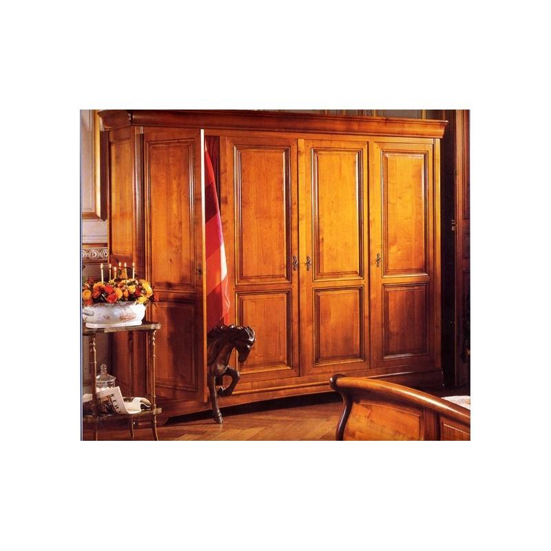 armoire 4 portes tantine en merisier meubles de normandie. Black Bedroom Furniture Sets. Home Design Ideas