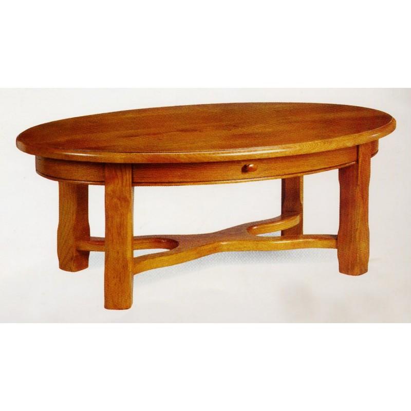 table de salon campagnarde ovale n 2 meubles de normandie. Black Bedroom Furniture Sets. Home Design Ideas