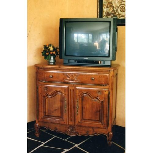 Meuble tv dangle en merisier doccasion solutions pour la for Meuble tv merisier