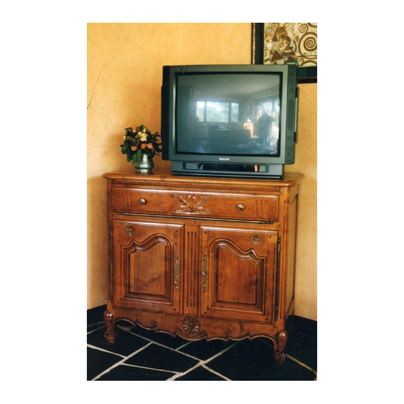 Meuble tv 2 portes marguerite merisier meubles de normandie - Meuble tele merisier ...