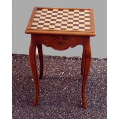 table carr e gu ridon chec et dames perle meubles de normandie. Black Bedroom Furniture Sets. Home Design Ideas