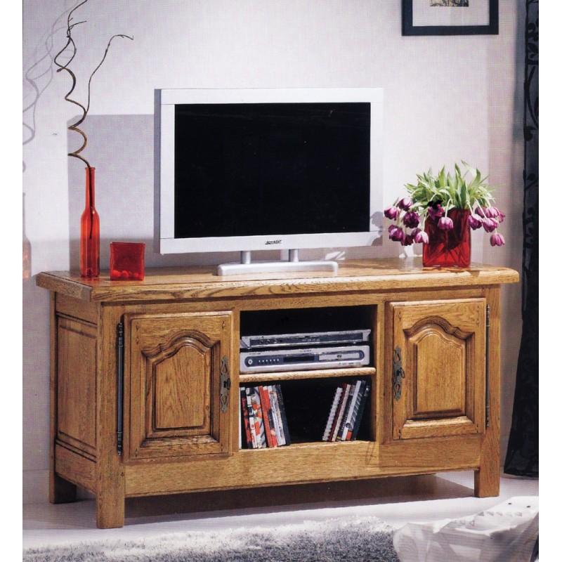 Meuble t l long d 39 annie meubles de normandie for Meuble tele long