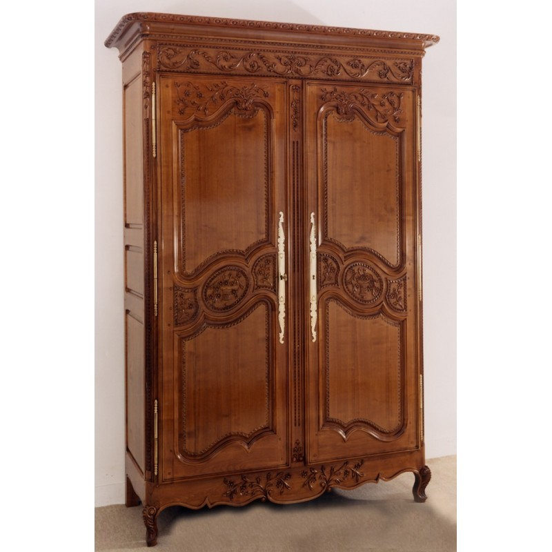 armoire perle en merisier hauteur 2 30 meubles de normandie. Black Bedroom Furniture Sets. Home Design Ideas