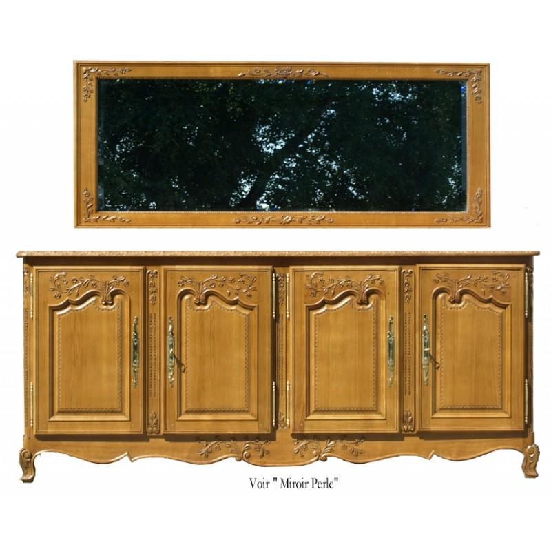 Bahut 4 portes perle meubles de normandie for Miroir pour bahut