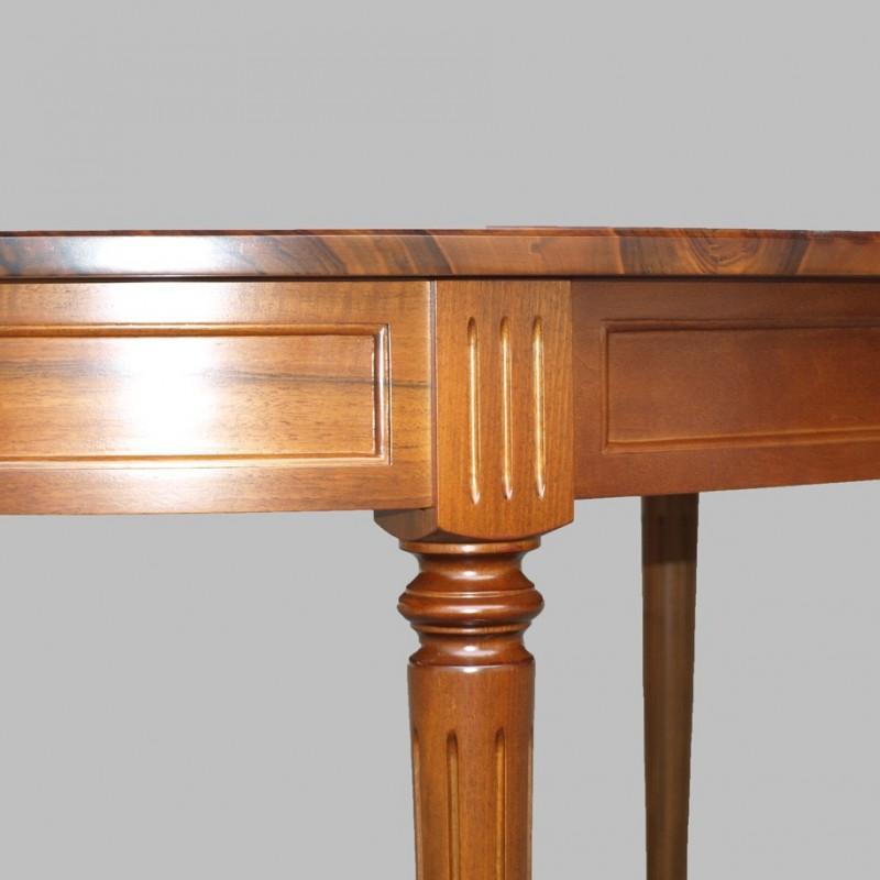 table ovale de louis xvi en noyer meubles de normandie. Black Bedroom Furniture Sets. Home Design Ideas
