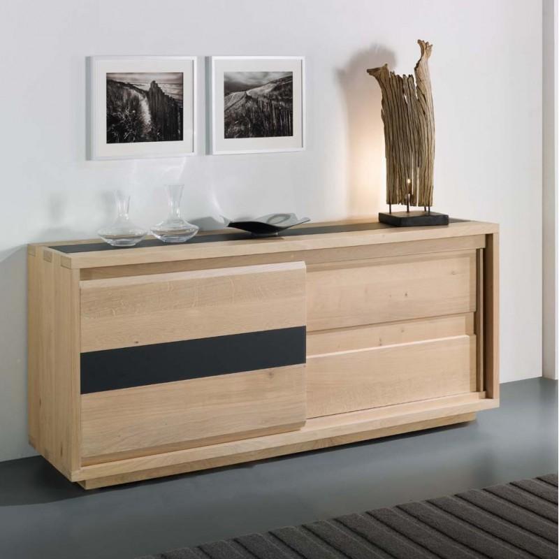 Bahut bas oslo grand mod le meubles de normandie - Bahut portes coulissantes ...