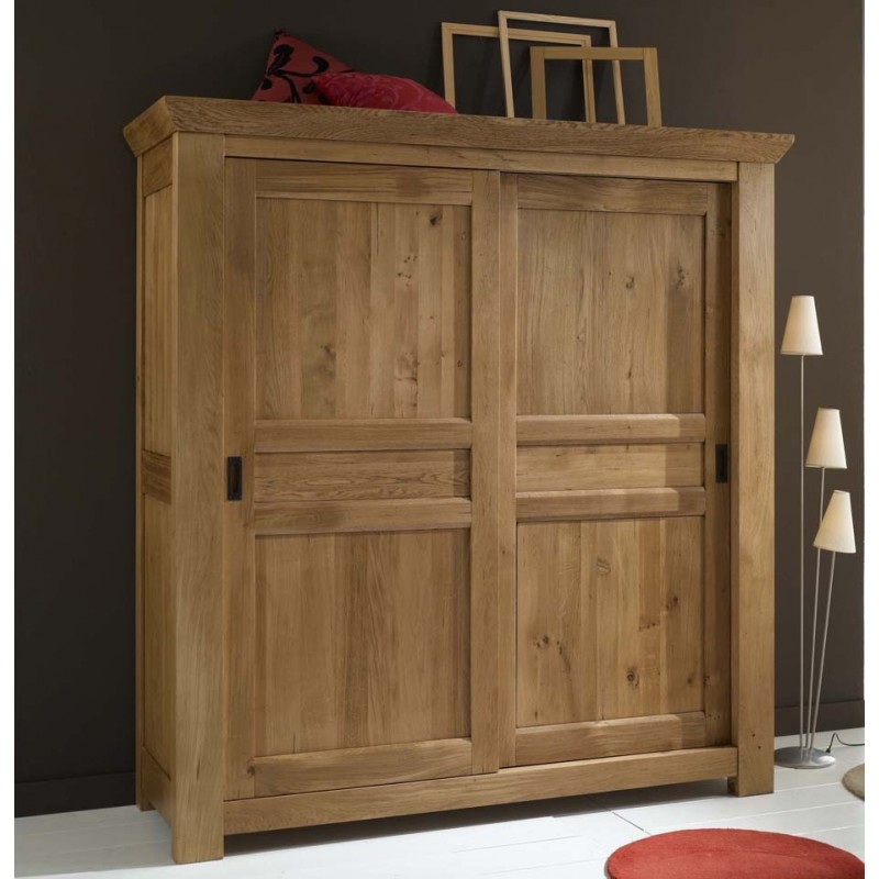 grande armoire campagnarde de gaspard en ch ne meubles. Black Bedroom Furniture Sets. Home Design Ideas
