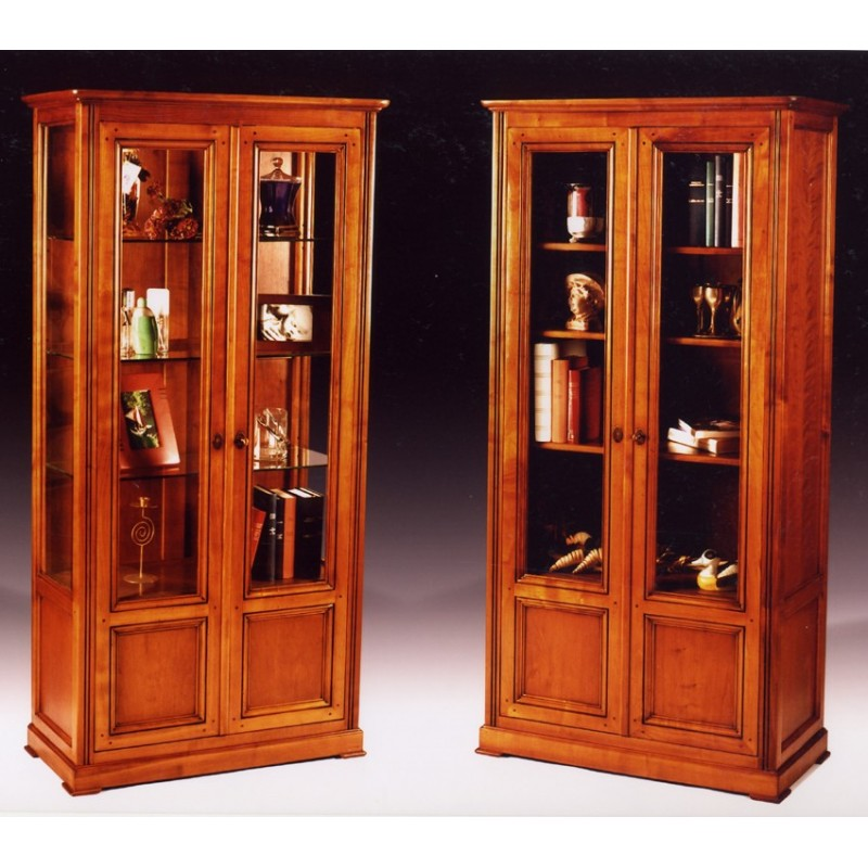 vitrine 2 portes harmonie meubles de normandie. Black Bedroom Furniture Sets. Home Design Ideas