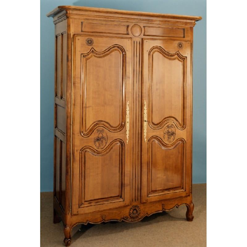 armoire normande marguerite en merisier meubles de normandie. Black Bedroom Furniture Sets. Home Design Ideas