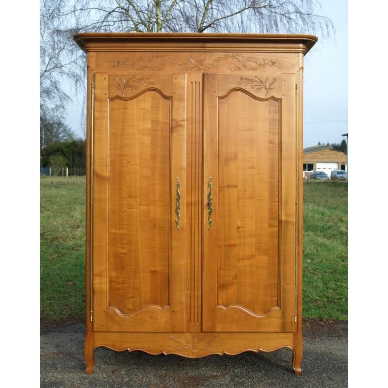 Armoire normande justine en merisier meubles de normandie for Porte normande