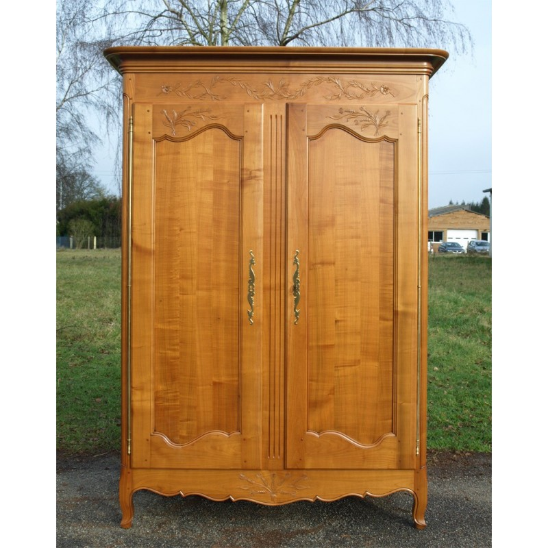armoire normande justine en merisier meubles de normandie. Black Bedroom Furniture Sets. Home Design Ideas
