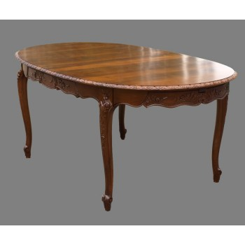 Table normande ovale Rose en noyer