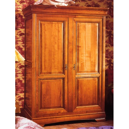 armoire 2 portes tantine en merisier meubles de normandie. Black Bedroom Furniture Sets. Home Design Ideas