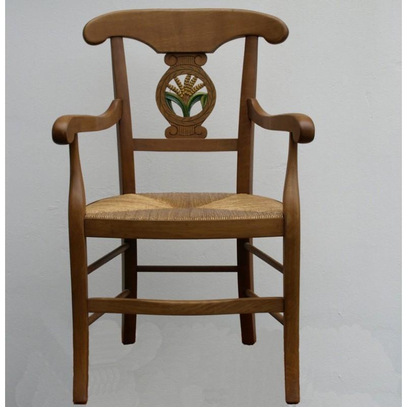 fauteuil directoire avec paille meubles de normandie. Black Bedroom Furniture Sets. Home Design Ideas
