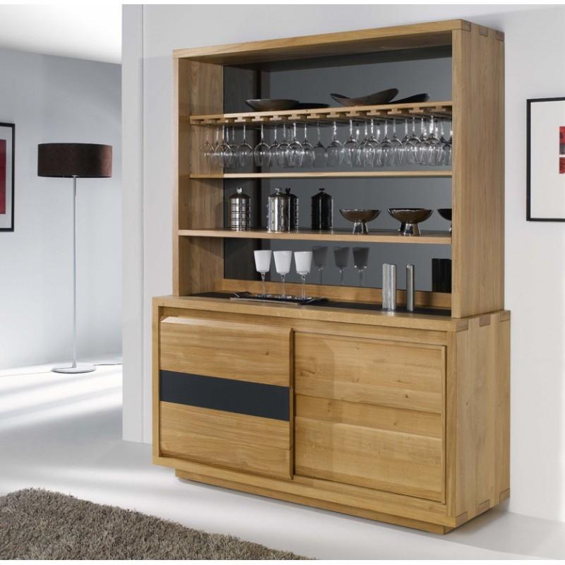cr dence vaisselier ouvert oslo meubles de normandie. Black Bedroom Furniture Sets. Home Design Ideas